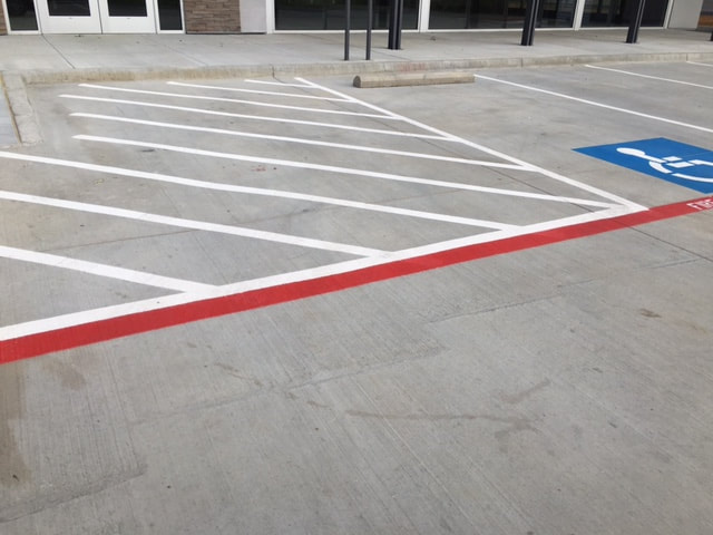 Parking Lot Handicap Zone Striping