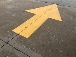 Directional Yellow Parking Lot Striping